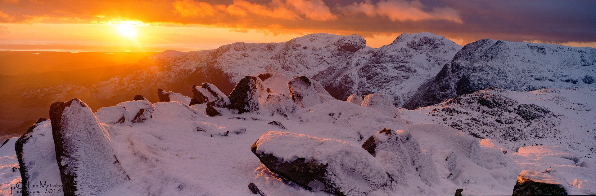 Scafell Range Sunset